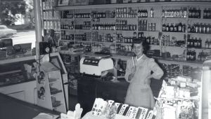 Rose Wilson in Wilson's Grocery c. 1950