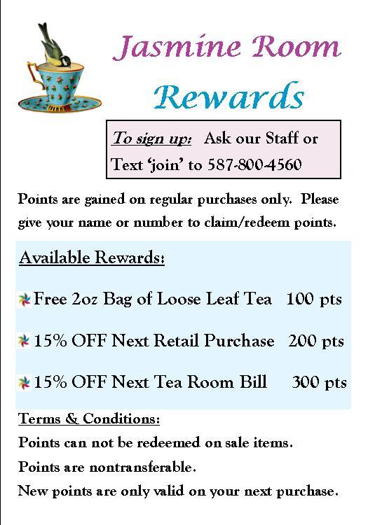 jasmine room rewards