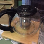clear teapots black