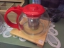 clear teapots red