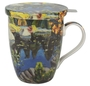 """Lily Pond in Georgian Bay"" tea mug with infuser"