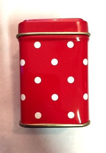 Red with White Polka Dots Tin