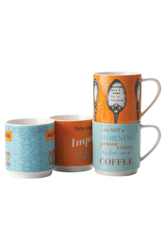 Coffee Contemplation mug set