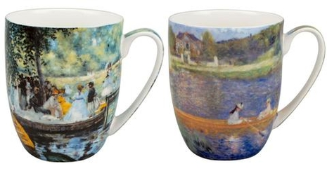 "Renoir ""Boating"" 2 mug set"