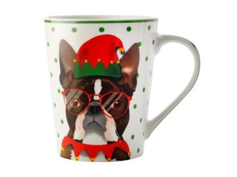The Mob Mug Christmas Pug