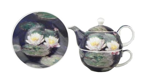 """Water Lillies"" Tea for one set"